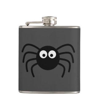 Pequeña araña negra con los ojos grandes