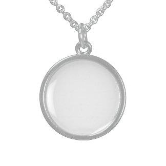 Pequeña astilla esterlina redonda collares de plata esterlina