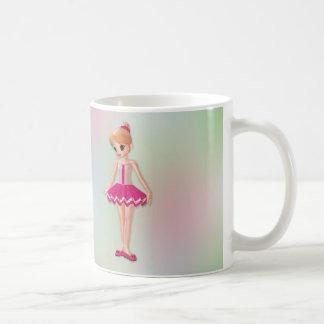 Pequeña bailarina taza de café