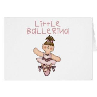 Pequeña bailarina triguena tarjeta de felicitación