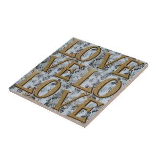 Pequeña baldosa cerámica 2 del amor azulejo cuadrado pequeño