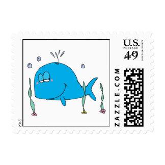 pequeña ballena linda sello