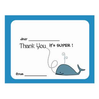 Pequeña ballena - los niños le agradecen cardar postal