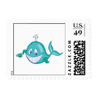 pequeña ballena sonriente linda franqueo