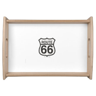 Pequeña bandeja de la porción de la ruta 66