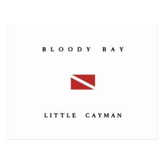 Pequeña bandera de la zambullida del equipo de postal