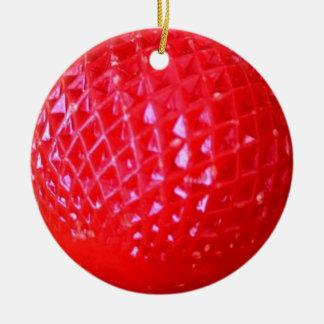 Pequeña bombilla de navidad del rojo LED Adorno Redondo De Cerámica