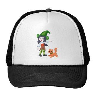 Pequeña bruja gorras de camionero