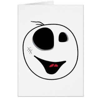 pequeña cabeza linda del tipo del zombi tarjeta de felicitación