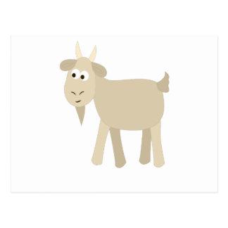 Pequeña cabra divertida linda postales