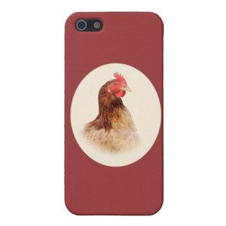 Pequeña caja de la mota del iPhone 4 de la gallina iPhone 5 Funda