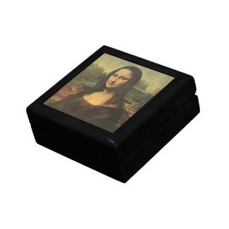 Pequeña caja de regalo de la teja de Mona Lisa Joyero Cuadrado Pequeño