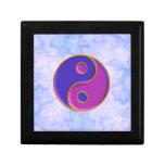 Pequeña caja de regalo de la teja de Yin y de Yang