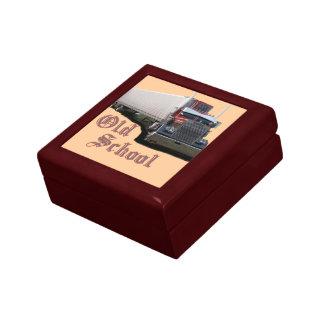 Pequeña caja de regalo de la teja - modificada par joyero cuadrado pequeño