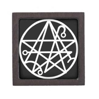 Pequeña caja de sello blanca de Necronomicon Cajas De Regalo De Calidad