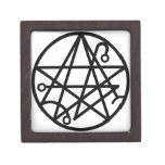 Pequeña caja de sello negra de Necronomicon Cajas De Joyas De Calidad