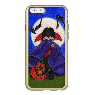Pequeña calabaza tímida linda Halloween de la luna Funda Para iPhone 6 Plus Incipio Feather Shine