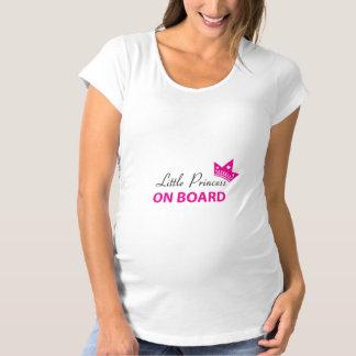 Pequeña camisa de la princesa a bordo - embarazo