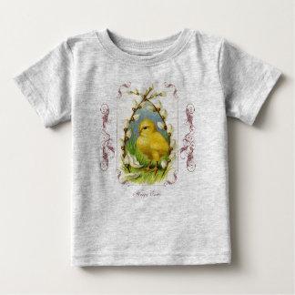 Pequeña camisa del bebé de Pascua del polluelo