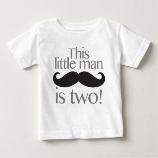 Pequeña camisa del cumpleaños del bigote del