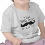 Pequeña camisa del cumpleaños del bigote del hombr