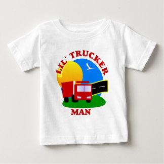 Pequeña camisa del hombre del camionero de los