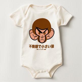 pequeña camisa irritable del bebé del mono