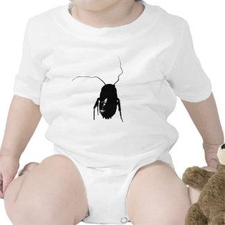 Pequeña camisa linda del bebé de las cucarachas