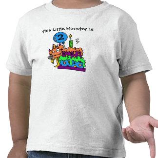 Pequeña camiseta adaptable del cumpleaños del mons