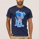 Pequeña camiseta azul del perrito