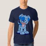Pequeña camiseta azul del perrito playeras