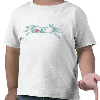 Pequeña camiseta azul linda del conejo