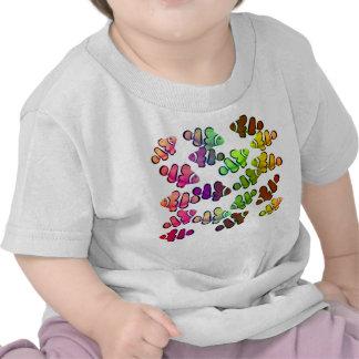 Pequeña camiseta colorida del niño de Clownfish