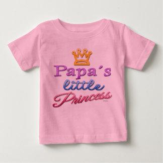 Pequeña camiseta de la princesa bebé de la papá poleras