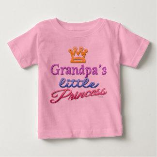 Pequeña camiseta de la princesa bebé del abuelo poleras