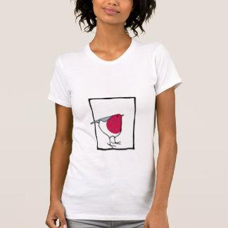 Pequeña camiseta de las señoras del petirrojo polera