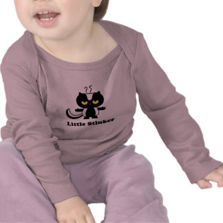Pequeña camiseta del bebé de la cosa maloliente