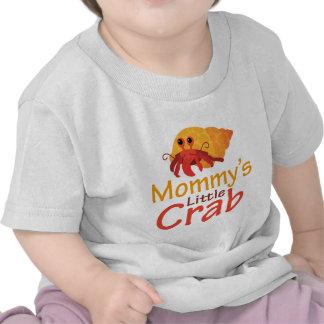 Pequeña camiseta del bebé del cangrejo de la mamá
