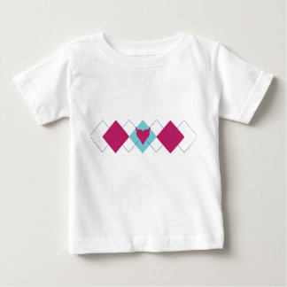 Pequeña camiseta del bebé del corazón del diablo poleras