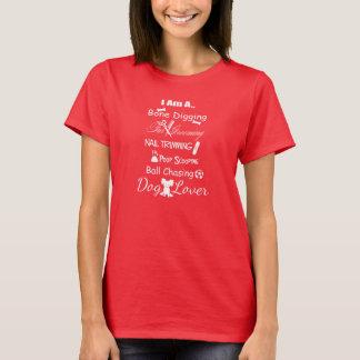 Pequeña camiseta del diseño del amante w/White del