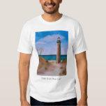 Pequeña camiseta del faro del punto del Sable Remeras