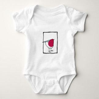 Pequeña camiseta del niño del petirrojo camisas