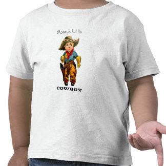 Pequeña camiseta del niño del vaquero de la mamá