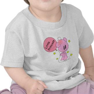 Pequeña camiseta del oso de peluche del rosa de la