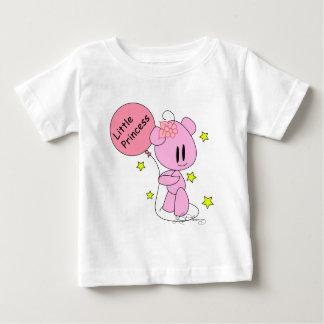 Pequeña camiseta del oso de peluche del rosa de la remera