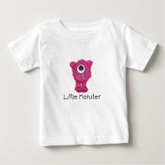 Pequeña camiseta enérgica rosada del monstruo polera