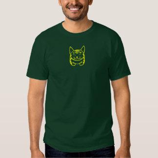 Pequeña camiseta feliz del gato de Tabby (tabby Remera