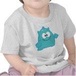 Pequeña camiseta linda del bebé del monstruo