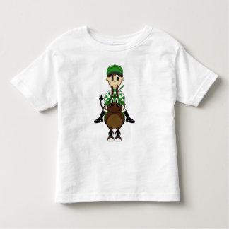 Pequeña camiseta linda del jinete playera de niño
