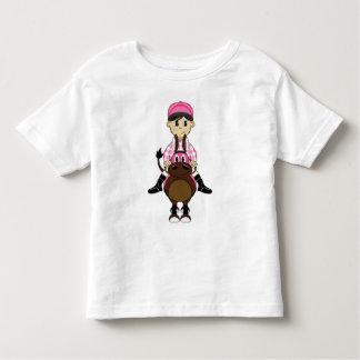 Pequeña camiseta linda del jinete remera